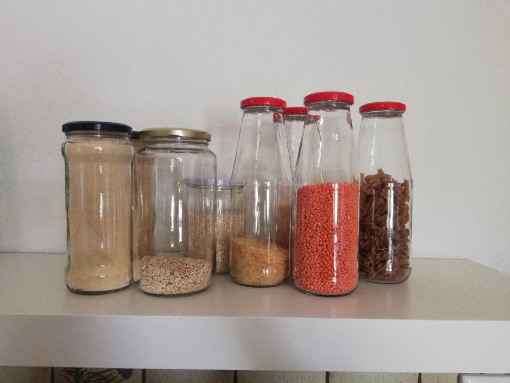 Lebensmittel lagern, unverpackt, verpackungsfrei, plastikfrei einkaufen